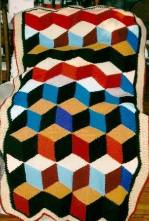 Retirement - 2002 - Crocheted acrylic yarn - 3 ft x 5 ft