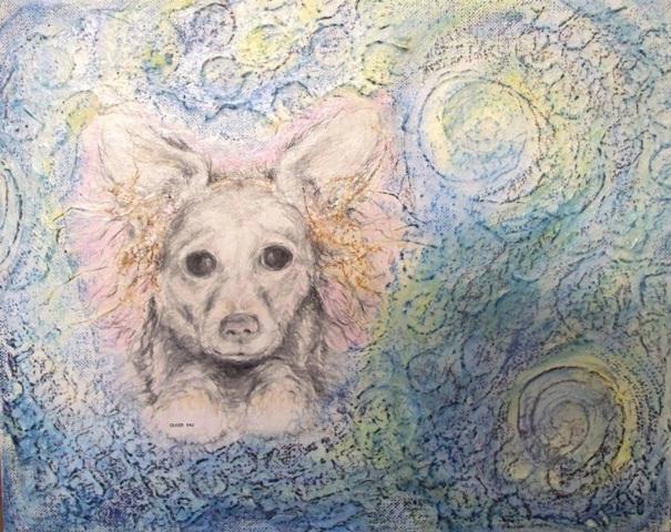 "Oliver - 2010 - Mixed Media on canvas board - 11"" x 14"""