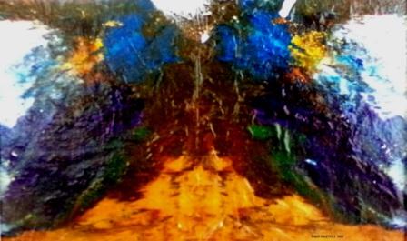 """Paint Palette II - 2010 - Acrylics on plastic - 11"""" x 14"""""""