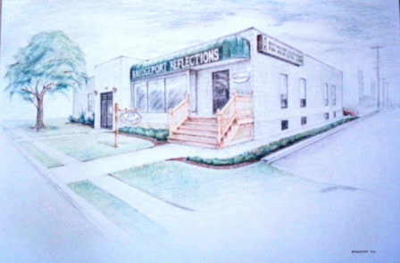 "Bridgeport - 1993 - Coloured pencils on paper - 18"" x 24"""