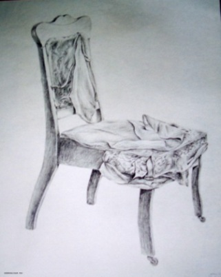 "Sheridan Chair - 1983 - Pencil on paper - 18"" x 24"""