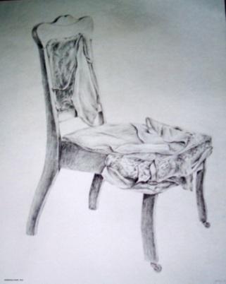 "Sheridan Chair - 1983 - Pencil on paper - 18"" x 24"""