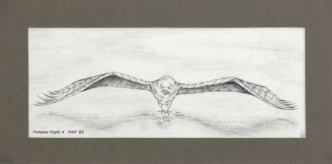"Tempus Fugit_4 - 1982 - Pencil on paper - 4"" x 10"""