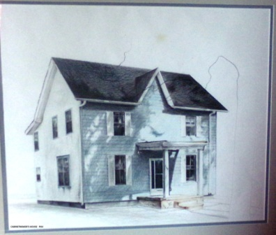 "Cabinetmaker's House - 1986 - Coloured pencils on paper - 20"" x 24"""