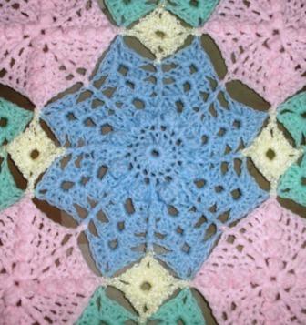 Mel's Flower - 2013 - Crocheted Acrylic yarn