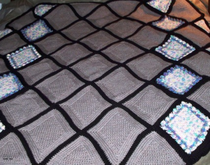 Diamonds - 2010 - Crocheted Acrylic Yarn - 4ft x 6ft