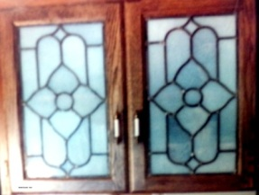 Mom & Dad's - Stained Glass Panels - 1980-something